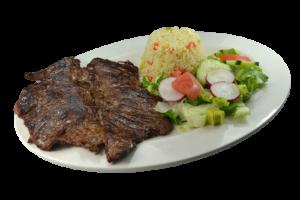 16. Carne Asada a la Plancha, Arroz y Ensalada