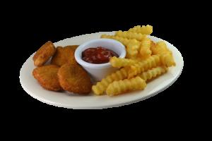 32. Chicken Nuggets y Papas Fritas