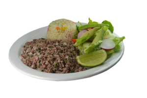 4. Salpicón de Carne, Arroz y Ensalada