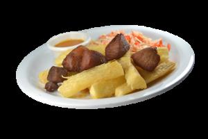 45. Yuca Frita con Chicharrón
